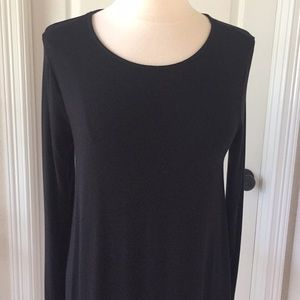 Old Navy Dresses - Old Navy Black Long Sleeve Swing Dress Sz Large